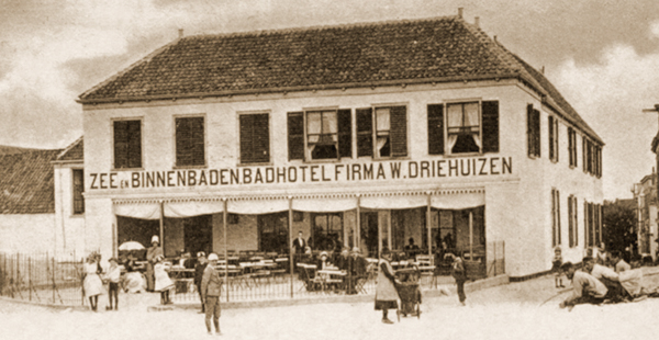 Hotel Driehuizen zirka 1900