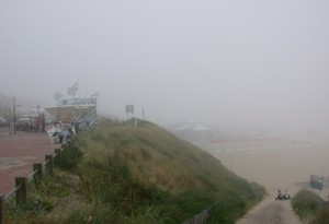 Unusual Zandvoort weather on the beach
