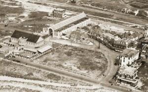 Uitzicht vanuit de lucht rond 1920