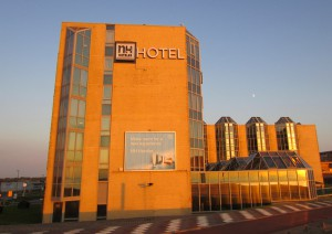 NH Hotel Zandvoort at sunset - great holiday accommodation