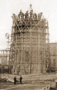Construction of old water tower Zandvoort
