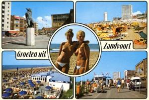 Ansichtkaart van Zandvoort uit de tachtiger jaren