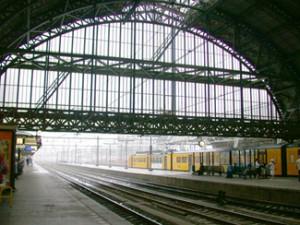 Het Centraal Station van Amsterdam