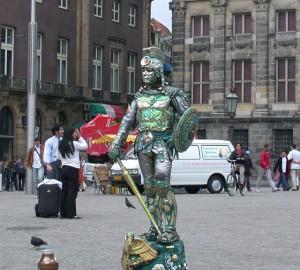 Straat entertainer, Amsterdam
