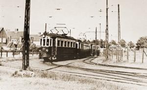 The blue tram in the Princessenweg - part of Zandvoort history