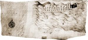 Kaart van het oude Zandvoort
