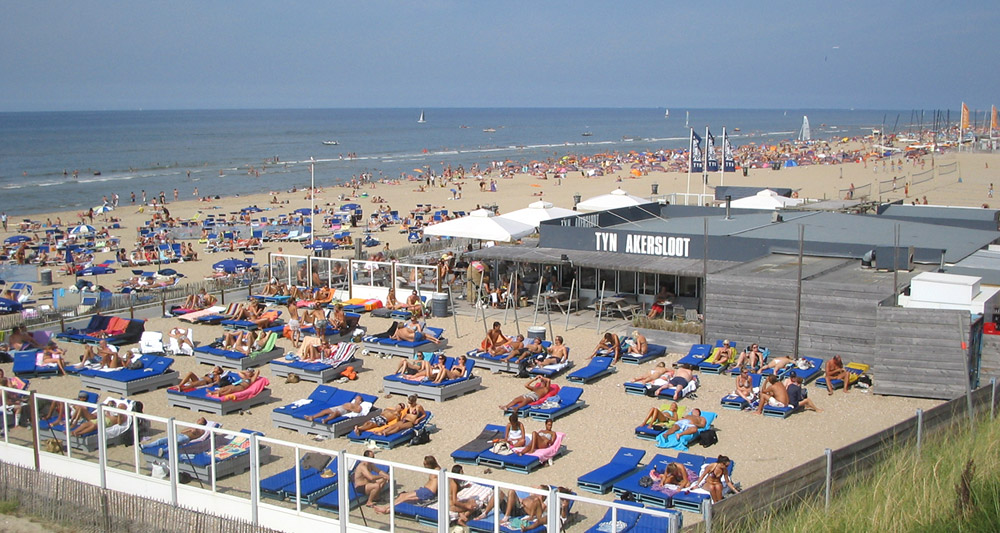 Zandvoort beach beach viewed from the south