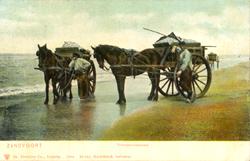Old Zandvoort Postcards - Fishermen on Zandvoort beach