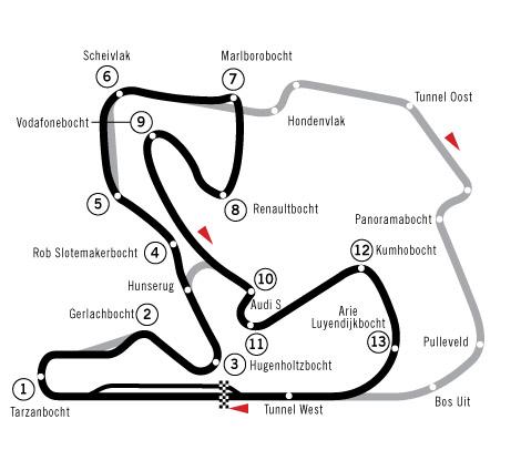 Circuit Park Zandvoort Strecke