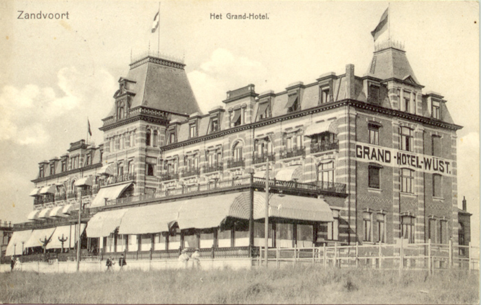 Closer view of Grand Hotel in Zandvoort