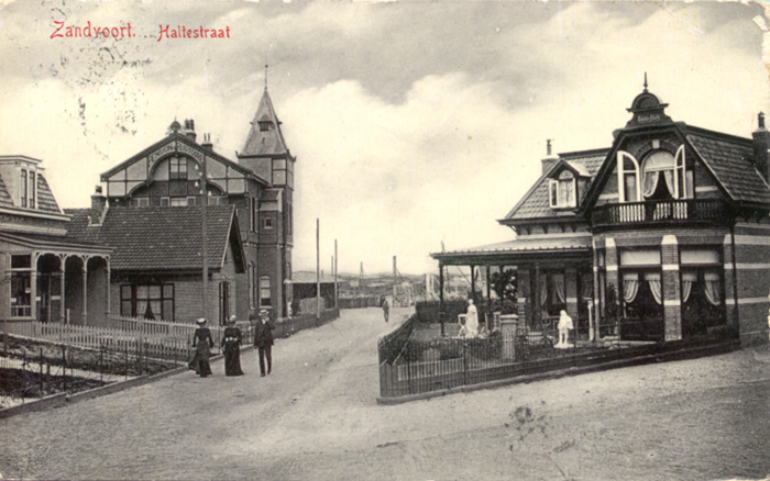 The Haltestraat. Named after the newly opened Haarlem-Zandvoort railway connection of 1881.