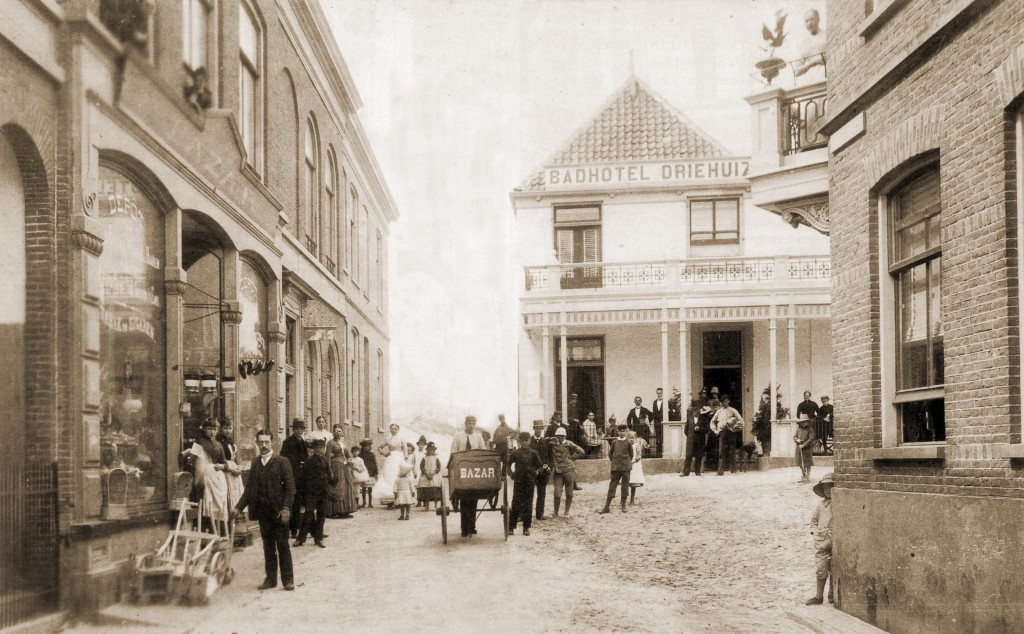 View looking up Kerkstraat circa 1888