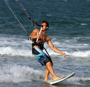 Kitesurfing for outdoor recreation