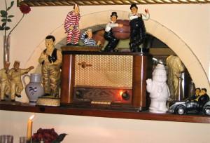 Memorabilia in der Laurel & Hardy Bar Zandvoort