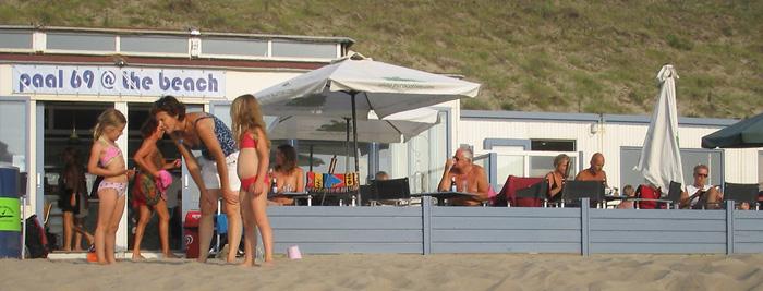 A Relaxed Scene at Paviljoen Paal 69 on Zandvoort's Naturist Beach