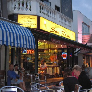 San Remo ice cream Parlour just off Haltestraat in Zandvoort