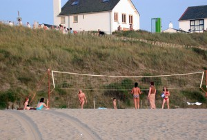 Beach volleyball is great fun on the beach