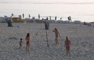 Beach volleyball on Zandvoort beach