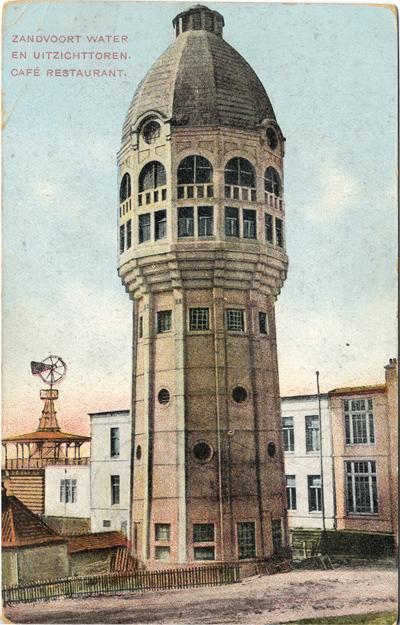 De oorspronkelijke Watertoren van Zandvoort die op 17 september 1943 opgeblazen werd door 12 explosieven door het Duitse leger
