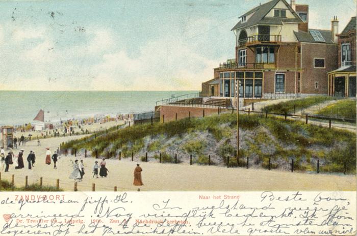 De oorspronkelijke Strandweg, Het poststempel op de achterkant is van 28 augustus 1905