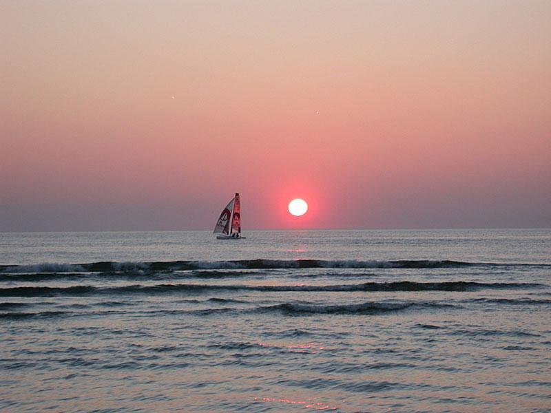 Sunset over the sea at Zandvoort