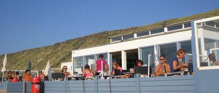 Der FKK Strand von Zandvoort Mit Strandcafes
